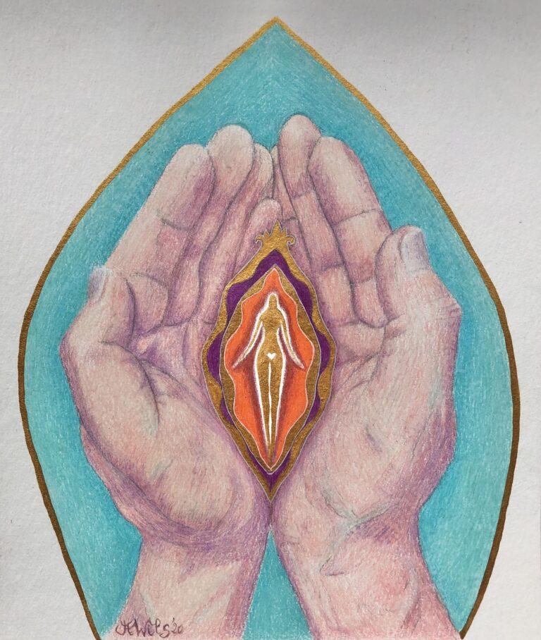 Erende handen vrouw
