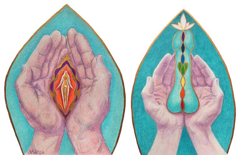 Erende handen man en vrouw